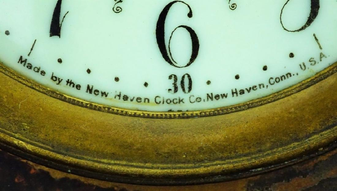 ANTIQUE NEW HAVEN SHELF CLOCK - 3