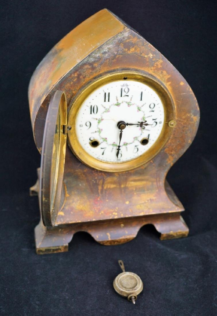 ANTIQUE NEW HAVEN SHELF CLOCK - 8