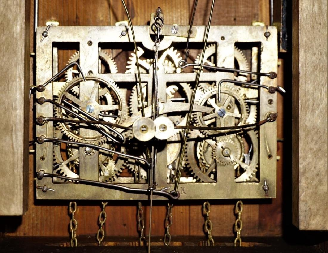 ANTIQUE 1890'S TRAIN STATION CUCKOO CLOCK - 9