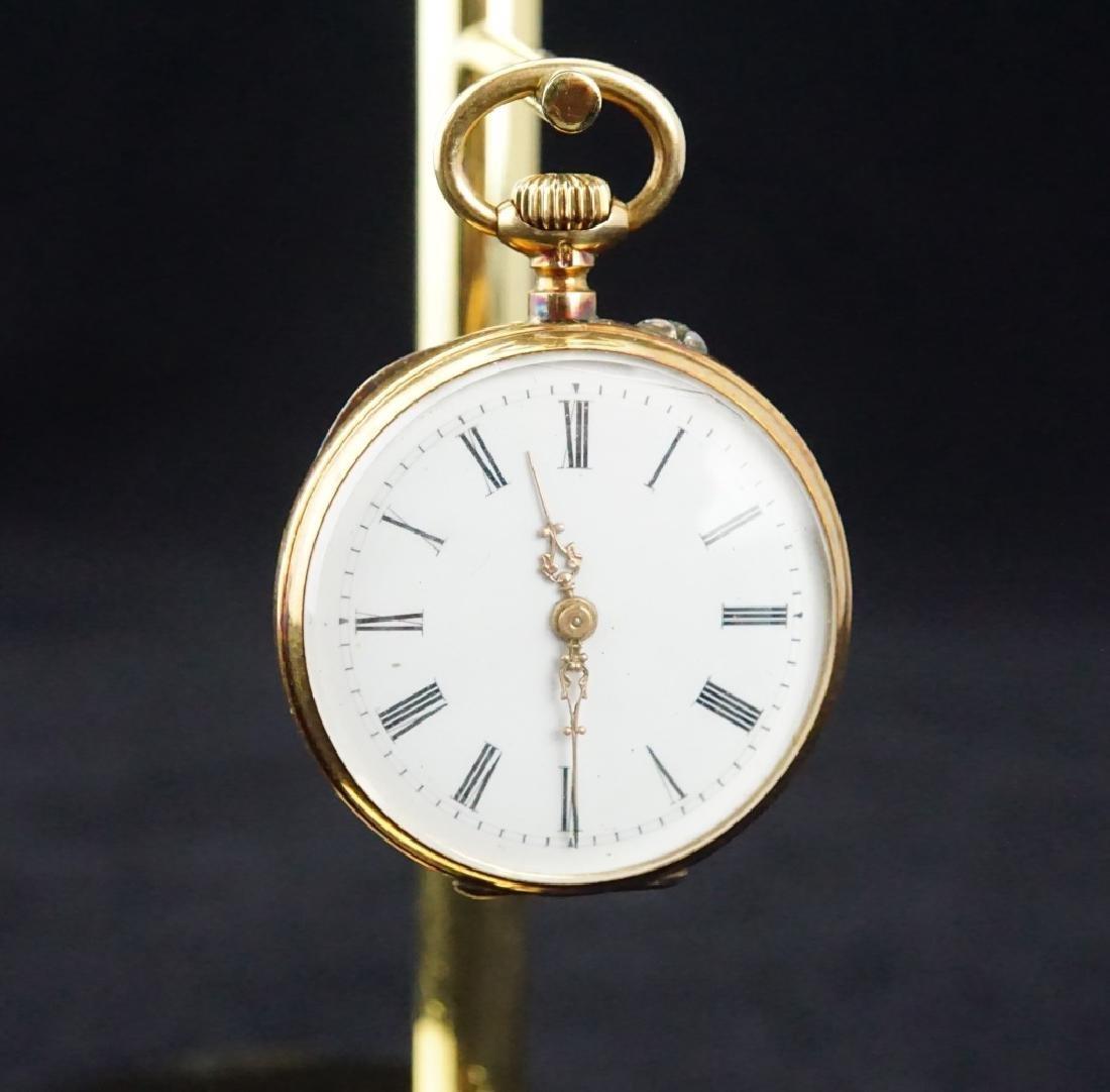 14K GOLD 19th CENTURY WOMEN'S PIN SET POCKET WATCH