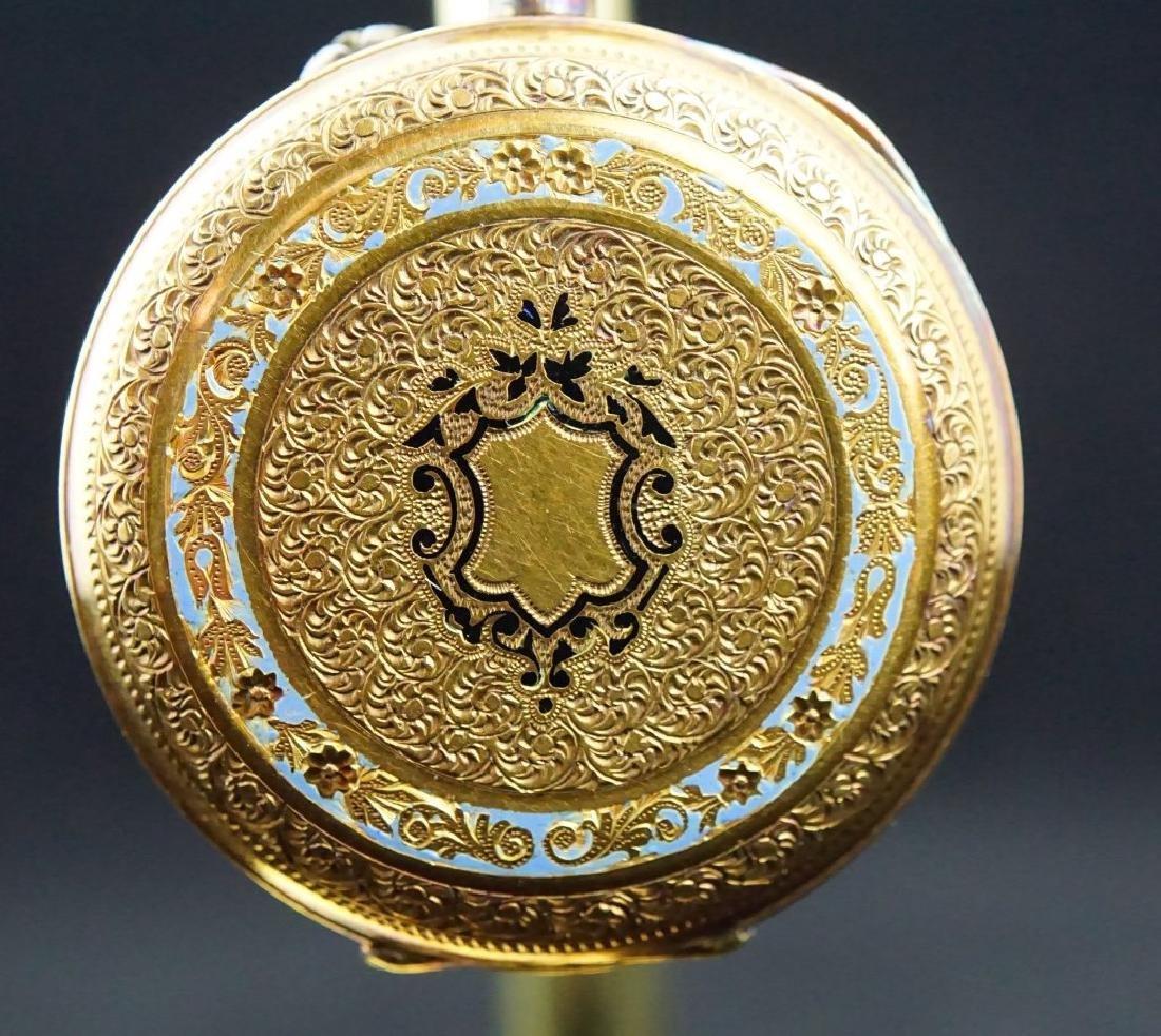 14K GOLD 19th CENTURY WOMEN'S PIN SET POCKET WATCH - 2