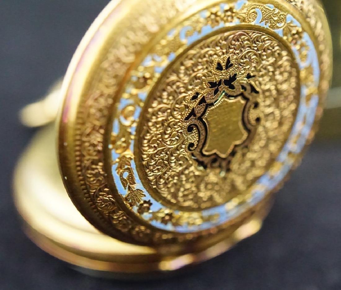14K GOLD 19th CENTURY WOMEN'S PIN SET POCKET WATCH - 4