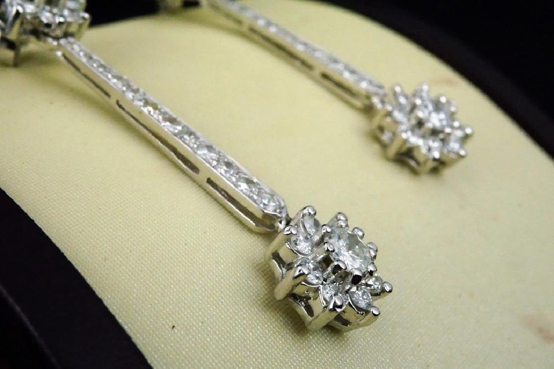 14K GOLD DIAMOND DROP EARRINGS - 5