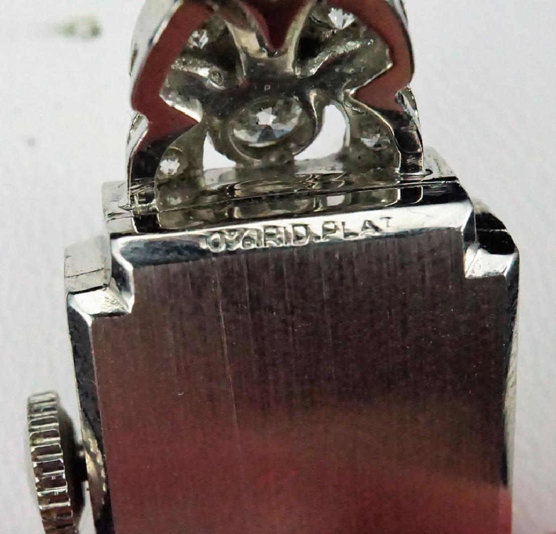 HAMILTON WOMEN'S DIAMOND & PLATINUM WRIST WATCH - 7