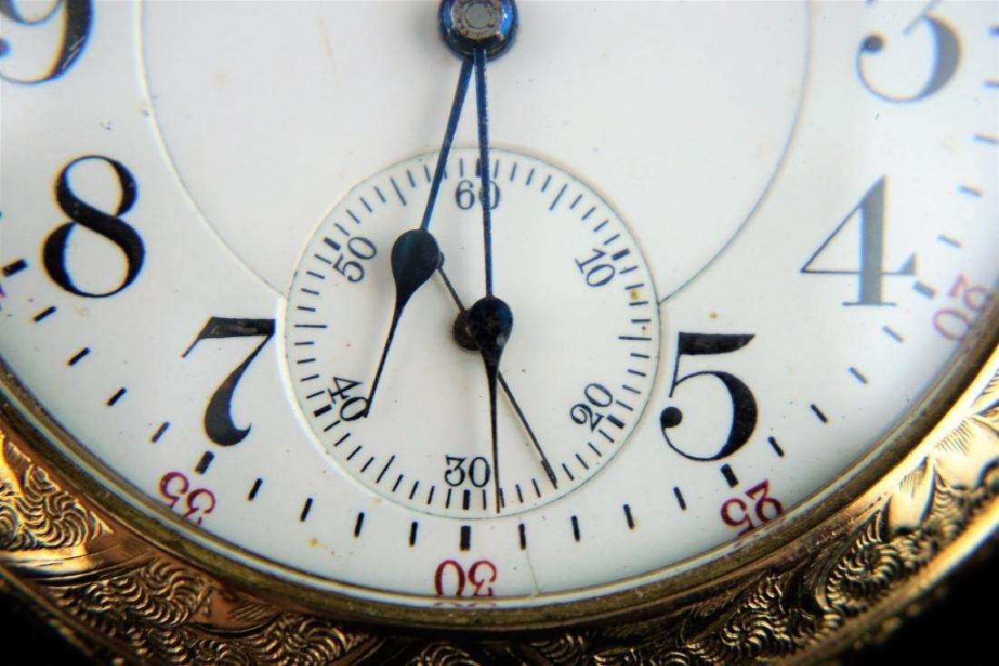 ANTIQUE WATHAM 21 JEWEL VANGUARD POCKETWATCH - 3