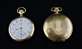 (2) ANTIQUE GOLD FILLED POCKET WATCHES