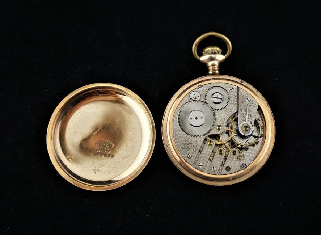 (2) ANTIQUE GOLD FILLED POCKET WATCHES - 2