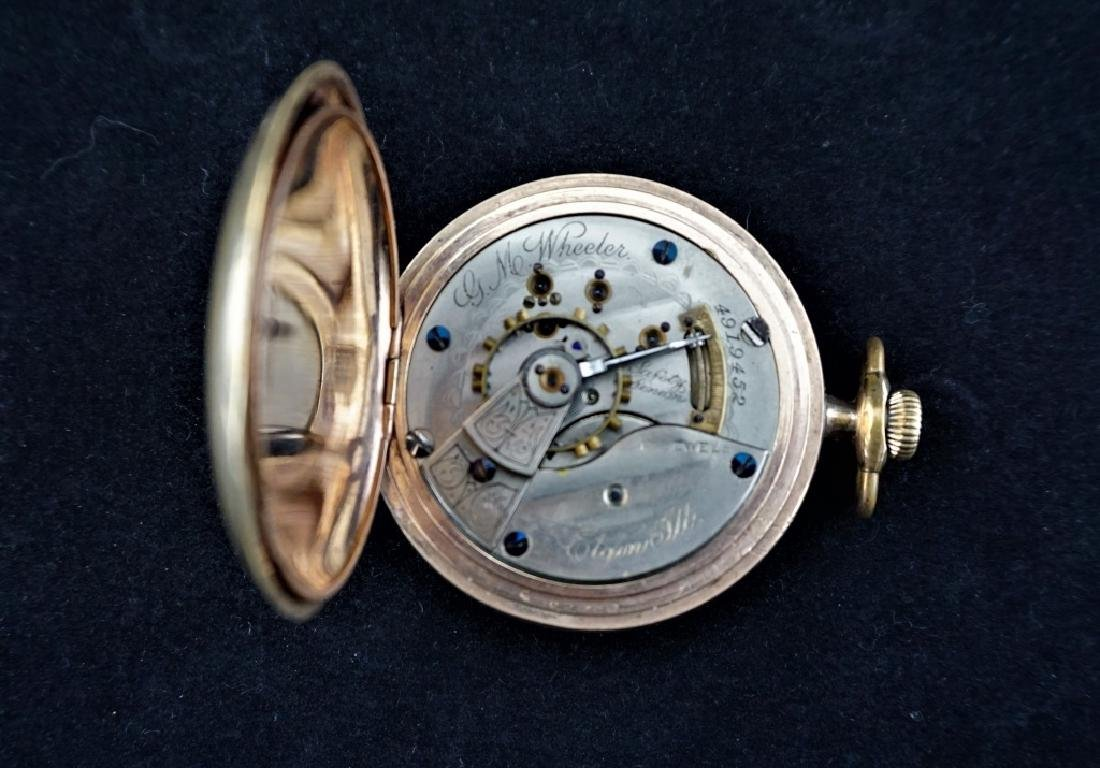 (2) ANTIQUE GOLD FILLED POCKET WATCHES - 3