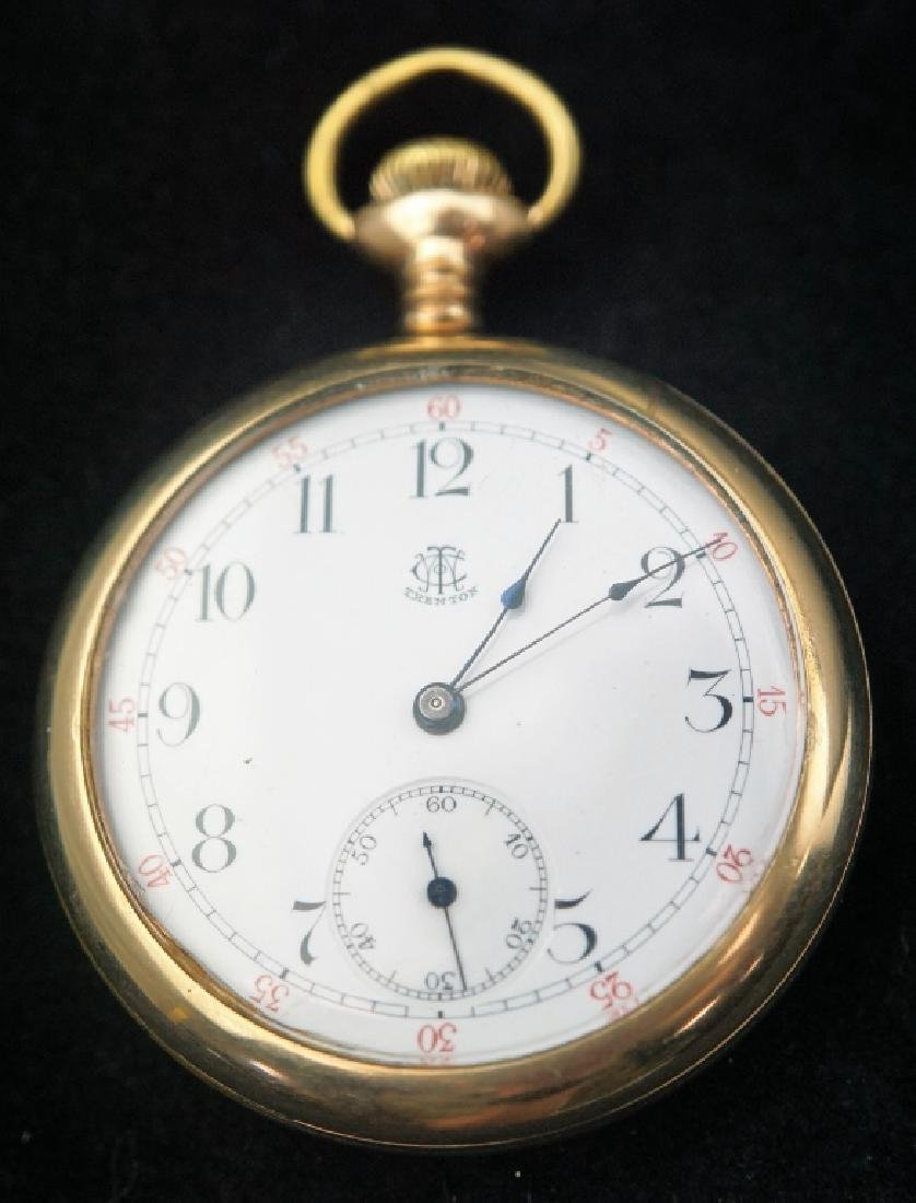 (2) ANTIQUE GOLD FILLED POCKET WATCHES - 4