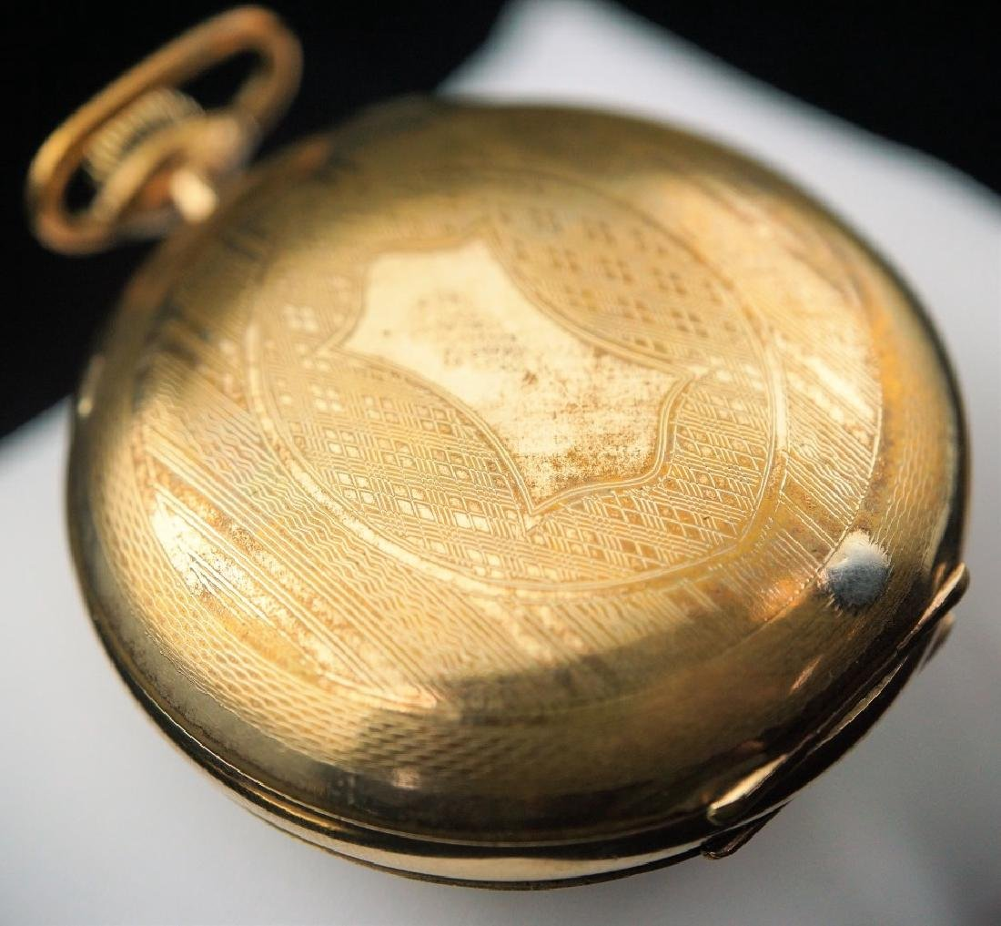 (2) ANTIQUE GOLD FILLED POCKET WATCHES - 5