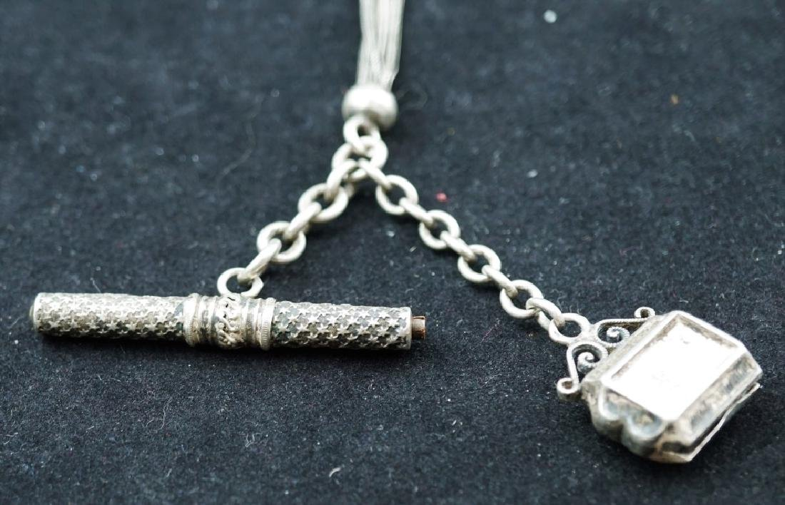 ANTIQUE VICTORIAN STERLING SILVER POCKET WATCH FOB