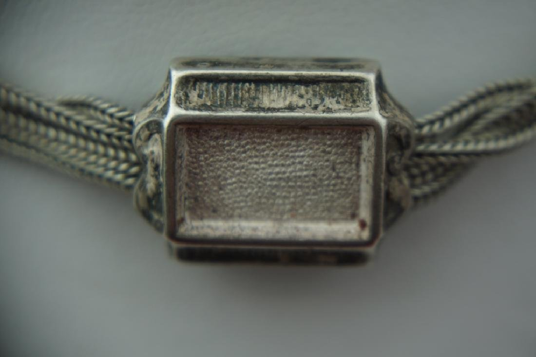 ANTIQUE VICTORIAN STERLING SILVER POCKET WATCH FOB - 5