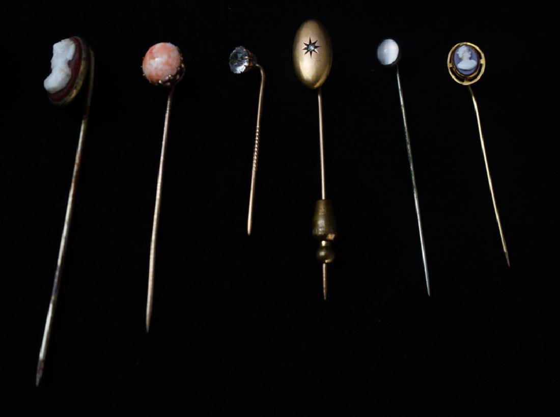 (12) ASSORTED VINTAGE STICK PINS