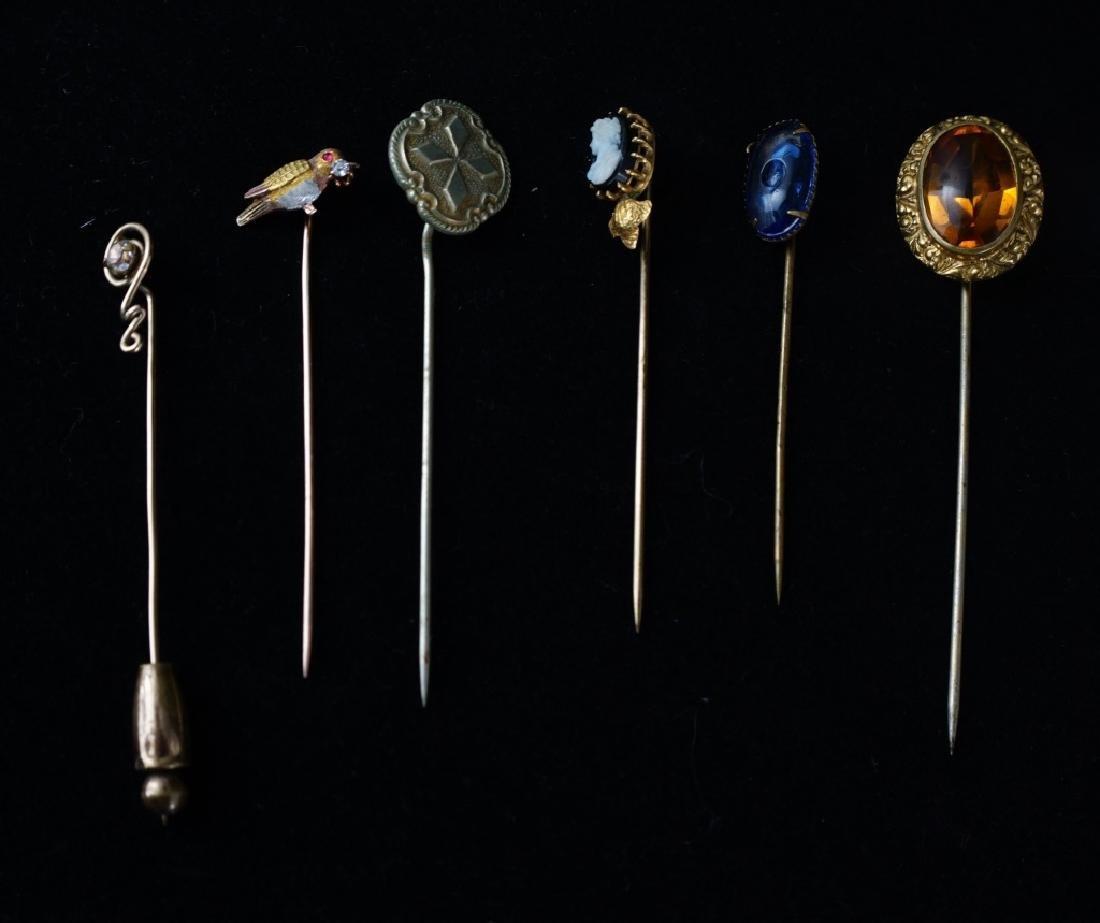(12) ASSORTED VINTAGE STICK PINS - 6