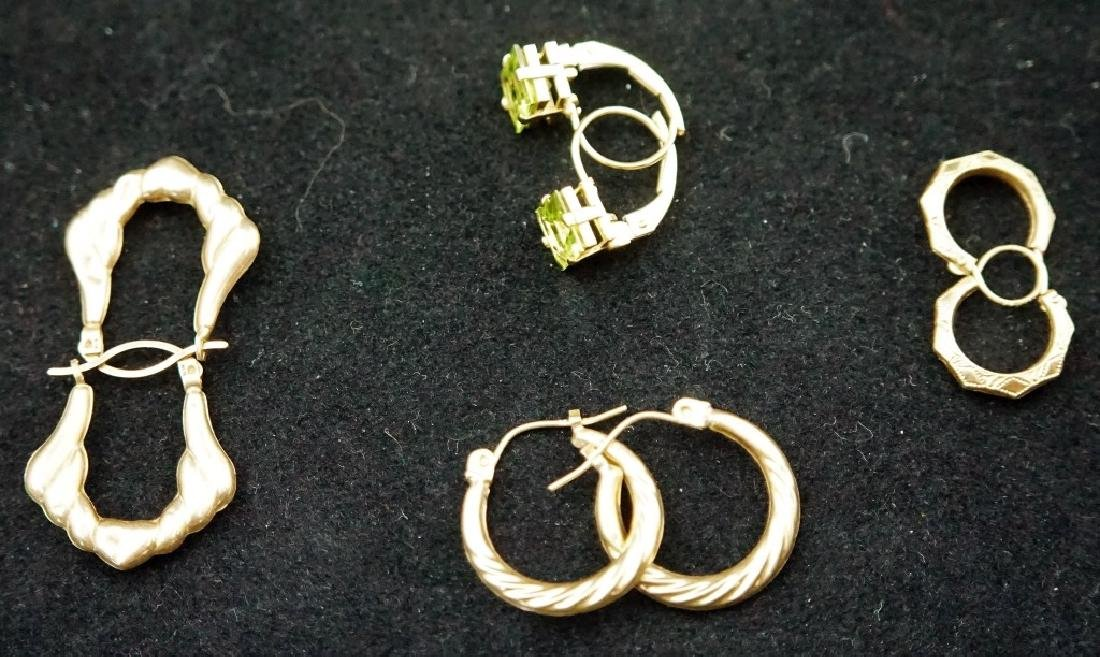 (4) PAIRS 14K GOLD PIERCED EARRINGS
