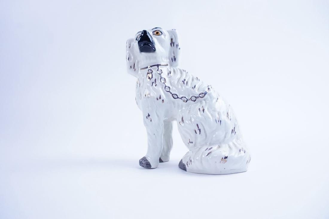 ANTIQUE STAFFORDSHIRE PORCELAIN DOG - 2