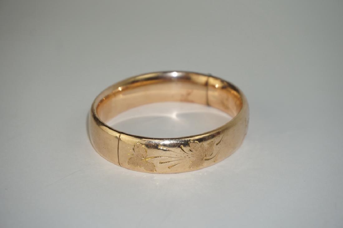 10K GOLD BANGLE BRACELET - 2
