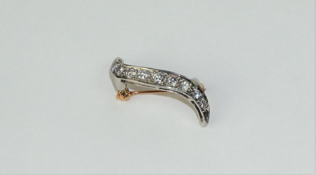 PLATINUM & DIAMOND FLARE PIN