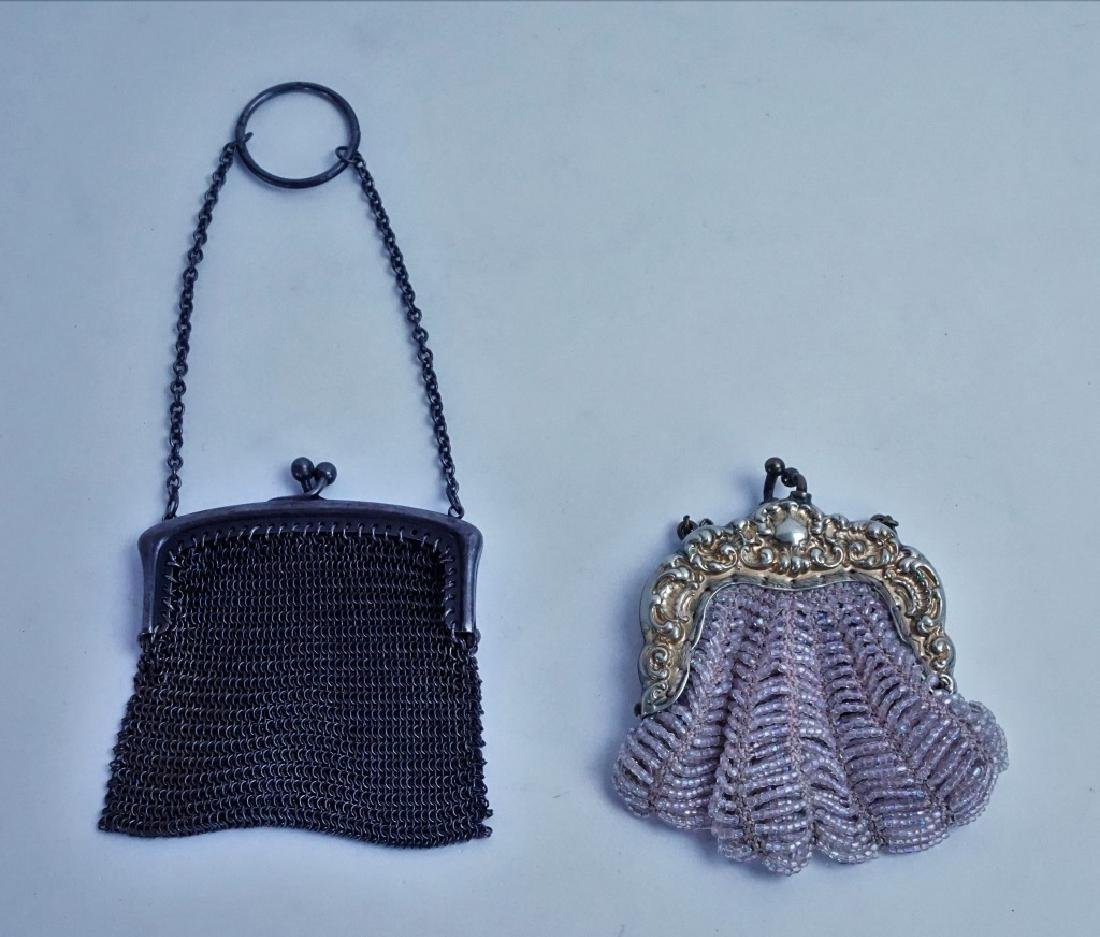 (2) ANTIQUE CHANGE PURSES