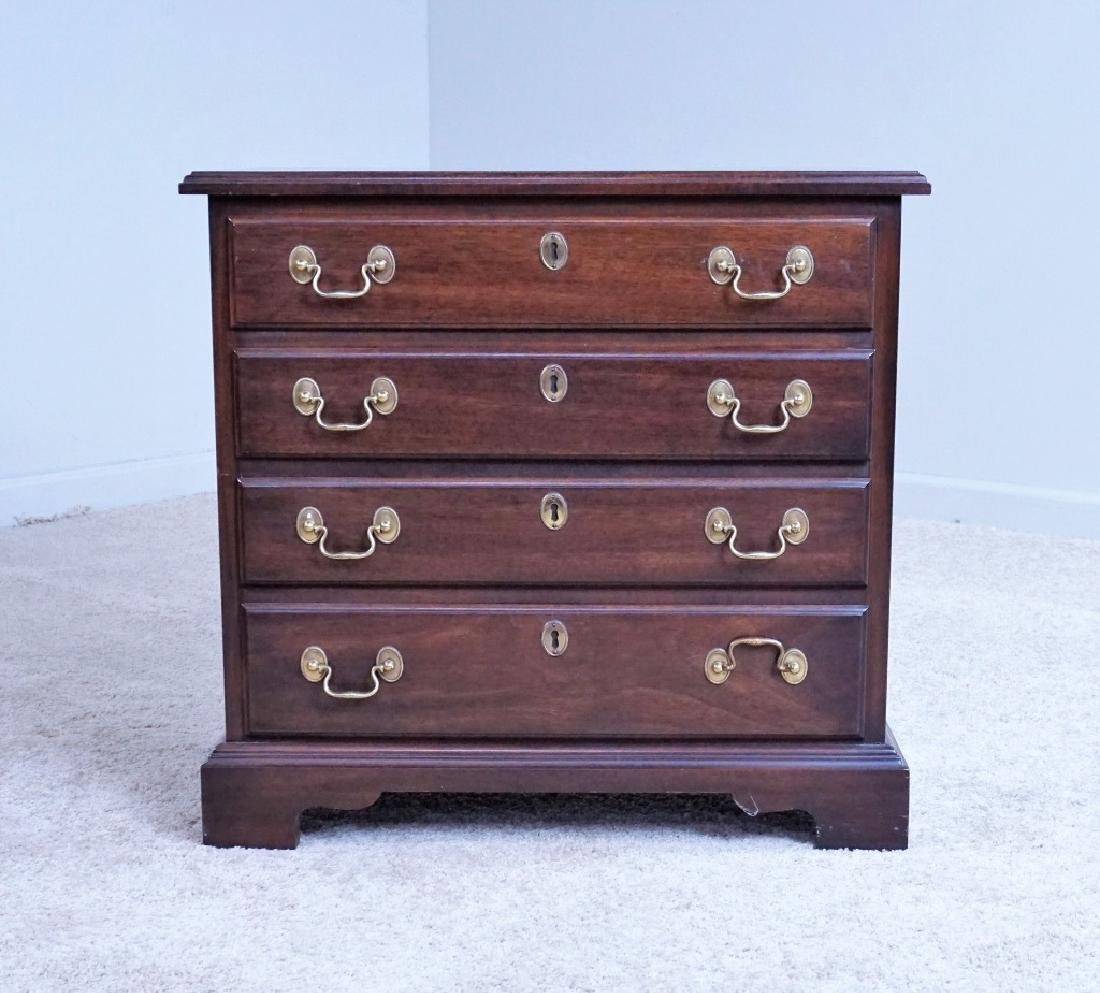 VINTAGE MAHOGANY 4-DRAWER LOW CHEST - 2