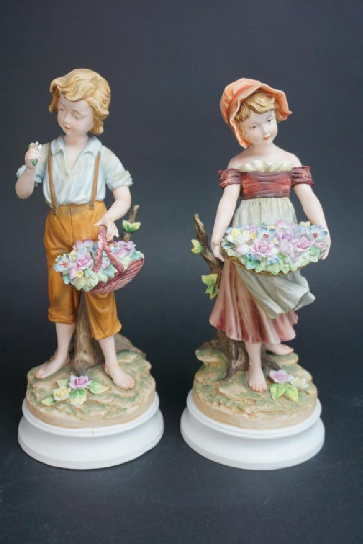 2pcs ANDREA BY SADEK A BOY & A GIRL WITH FLOWERS