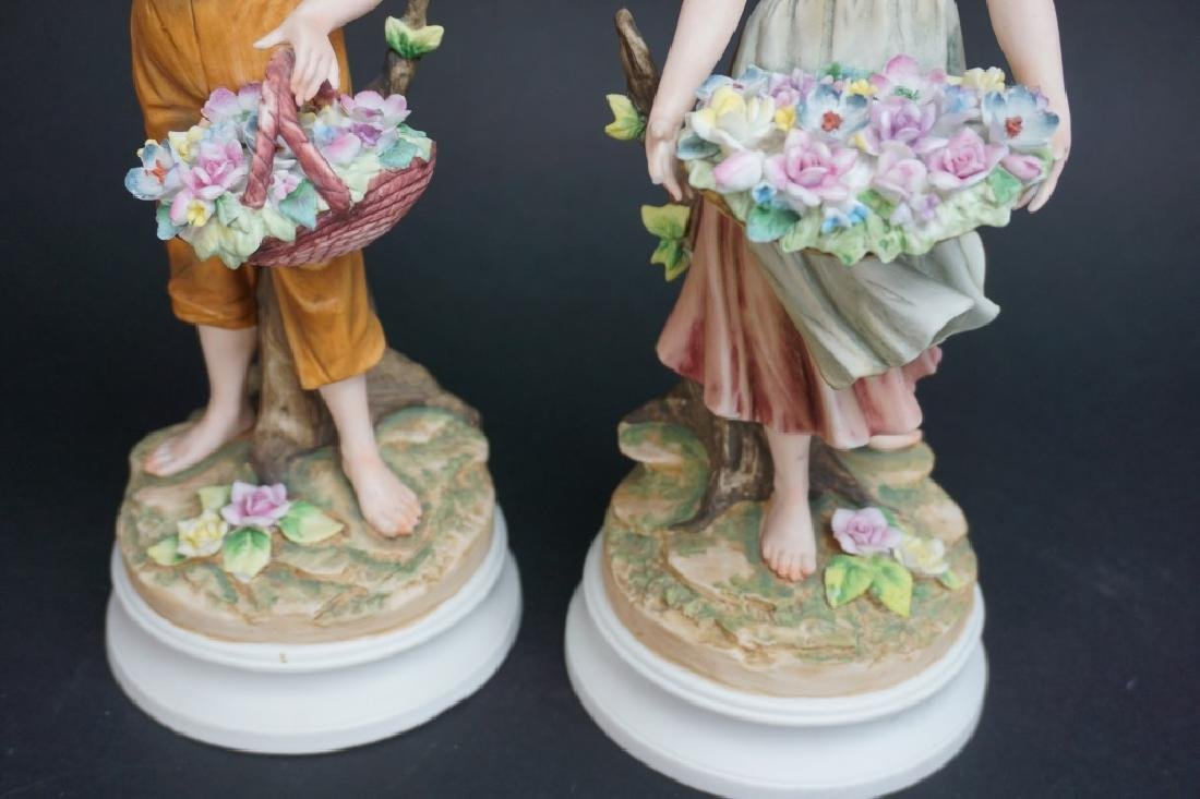 2pcs ANDREA BY SADEK A BOY & A GIRL WITH FLOWERS - 2