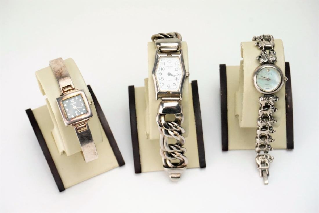 (3) ASSORTED STERLING SILVER WATCHES