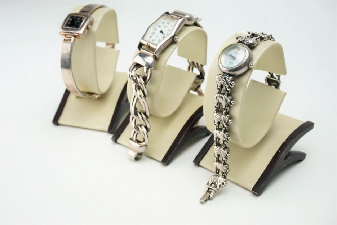 (3) ASSORTED STERLING SILVER WATCHES - 2