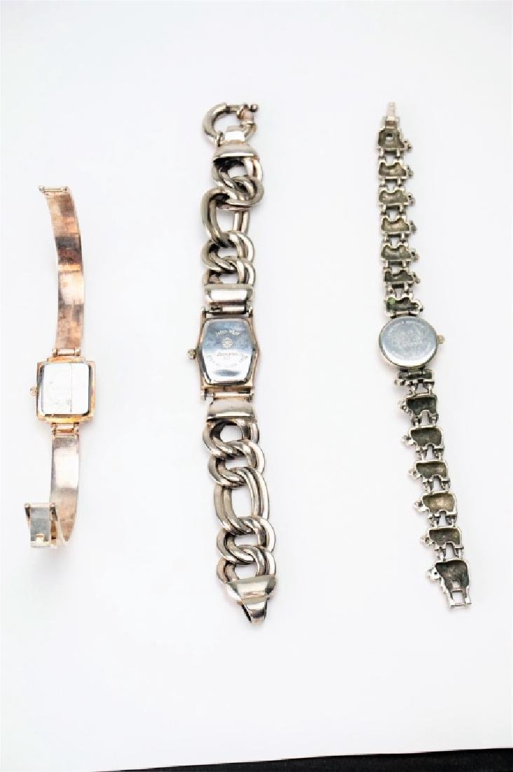 (3) ASSORTED STERLING SILVER WATCHES - 3