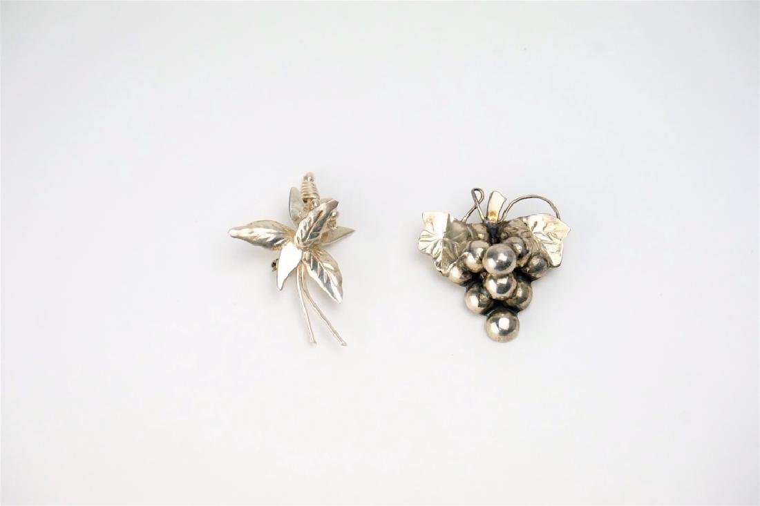 (2) MEXICO STERLING SILVER PINS