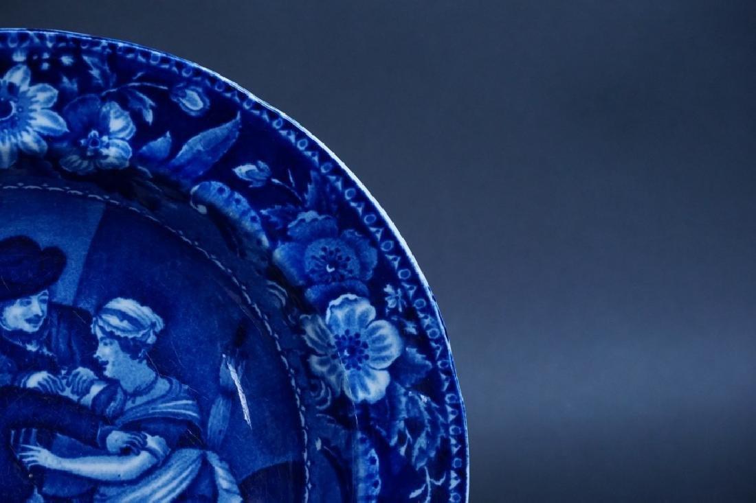 ANTIQUE FLOW BLUE STONEWARE BOWL - 2