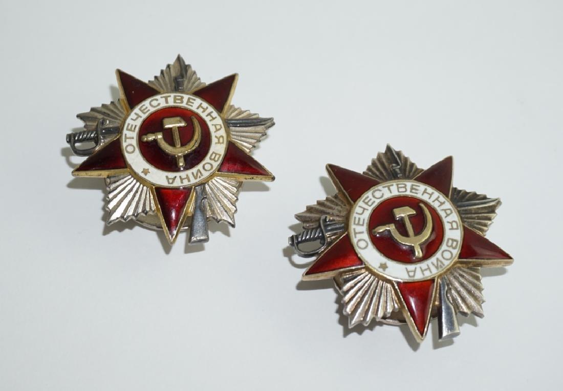 (2) WWII SOVIET ORDER OF PATRIOTIC WAR MEDALS