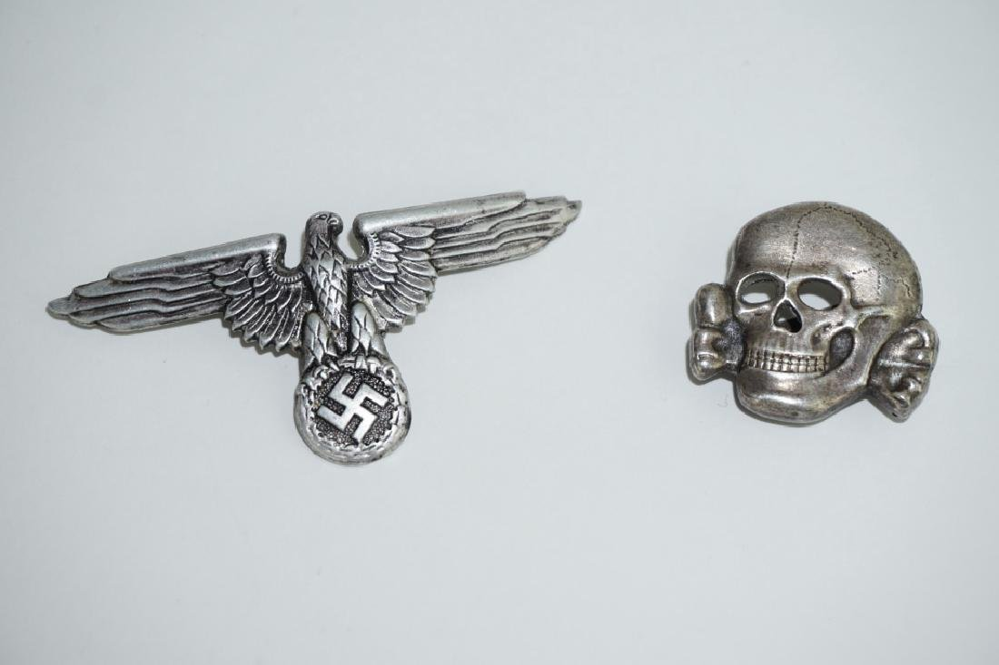 (2) WWII GERMAN REPRODUCTION WAFFEN-SS HAT PINS