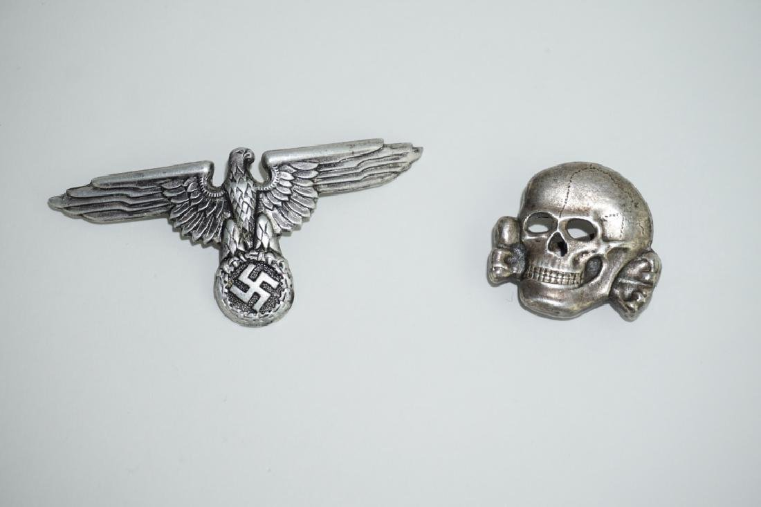 (2) WWII GERMAN REPRODUCTION WAFFEN-SS HAT PINS - 2