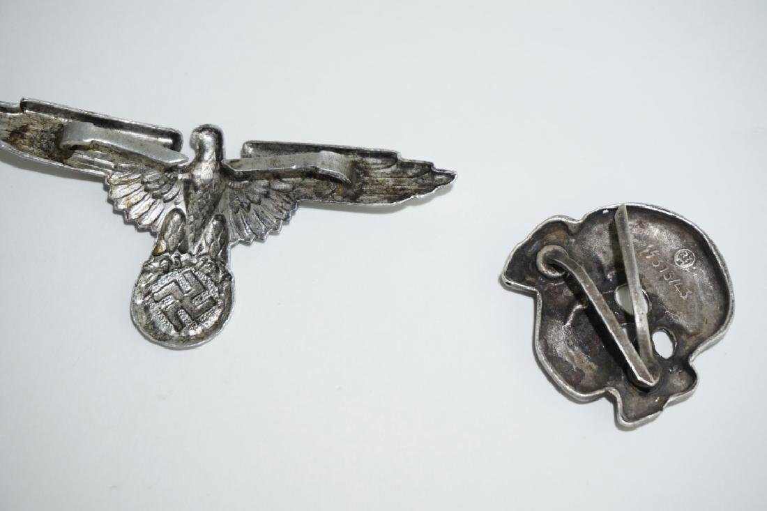 (2) WWII GERMAN REPRODUCTION WAFFEN-SS HAT PINS - 3