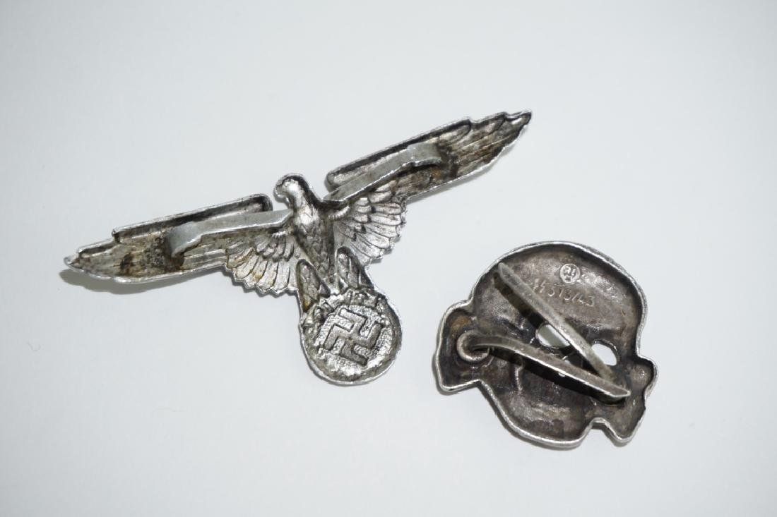 (2) WWII GERMAN REPRODUCTION WAFFEN-SS HAT PINS - 4