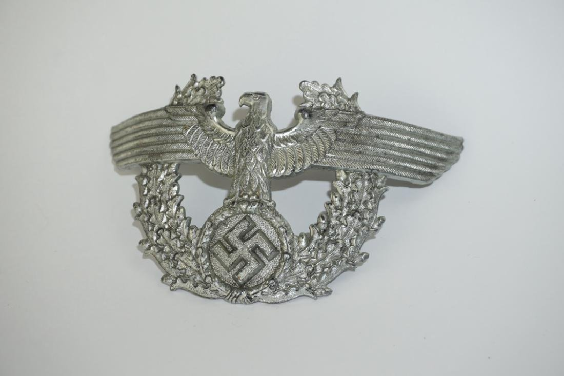 WWII GERMAN POLICE SHAKO CAP EAGLE