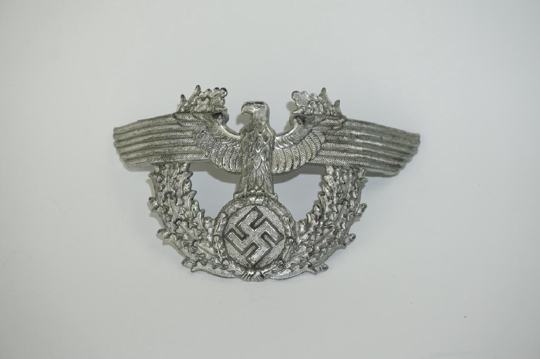 WWII GERMAN POLICE SHAKO CAP EAGLE - 2