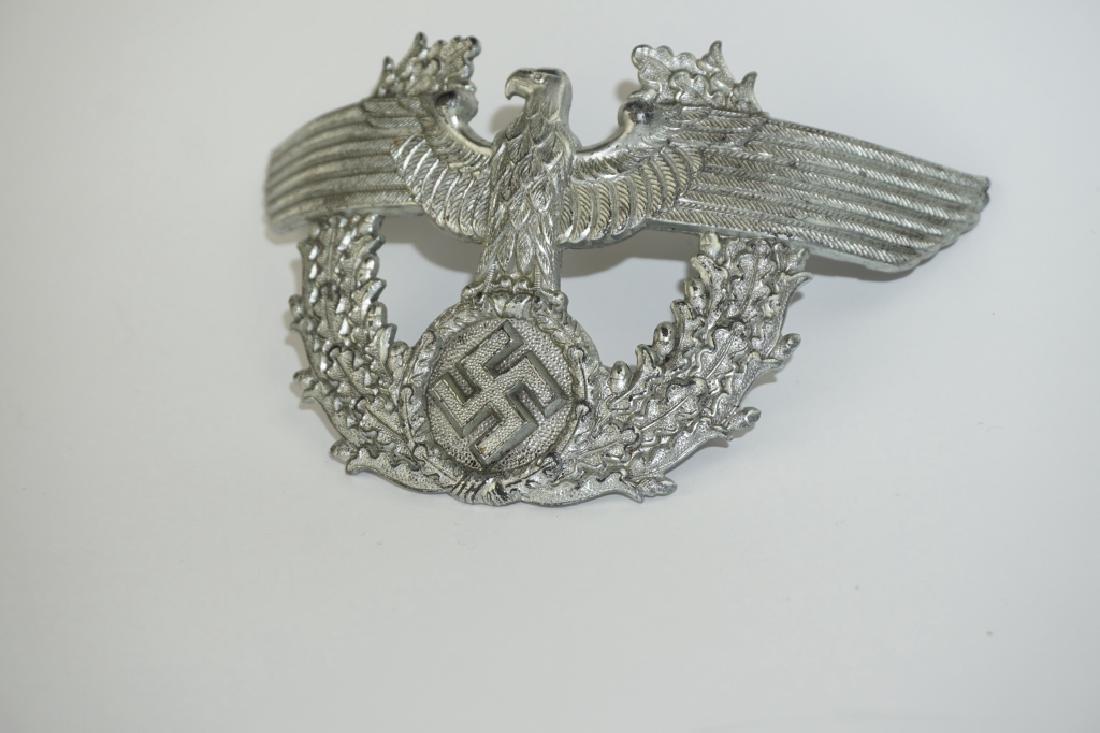 WWII GERMAN POLICE SHAKO CAP EAGLE - 3