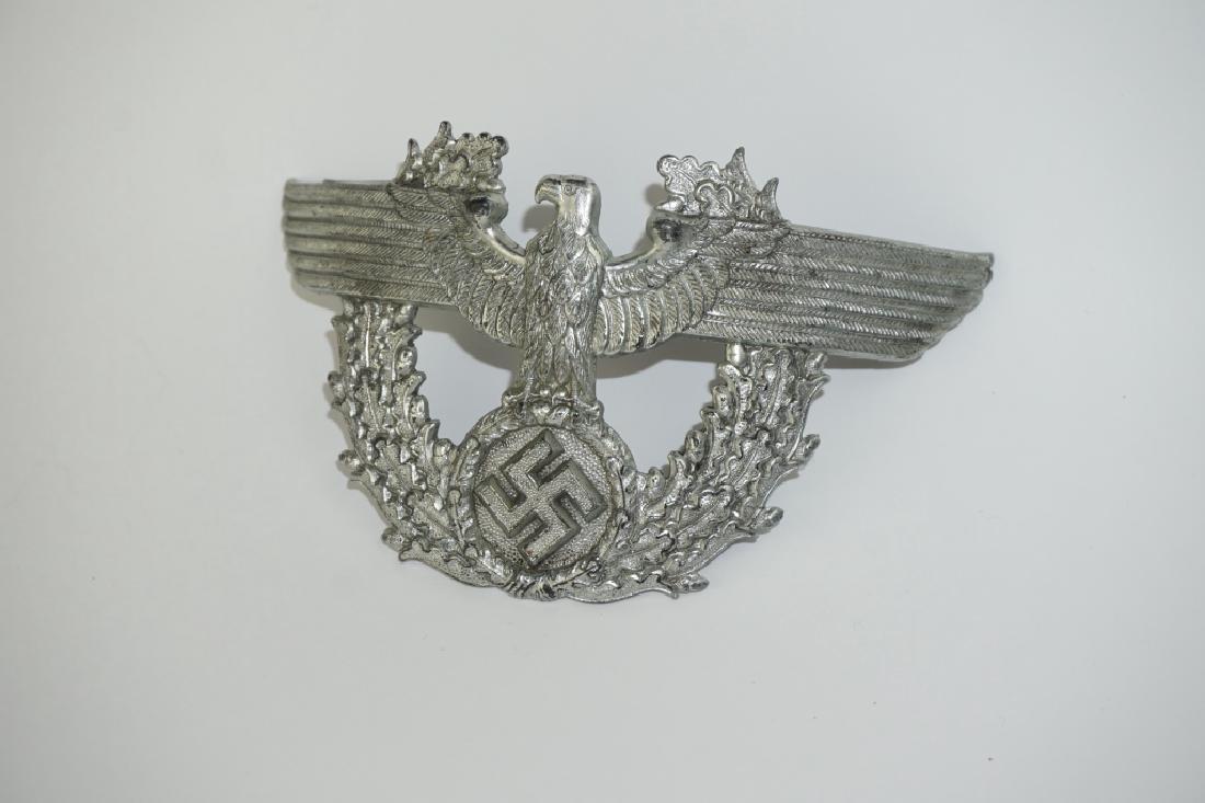 WWII GERMAN POLICE SHAKO CAP EAGLE - 4