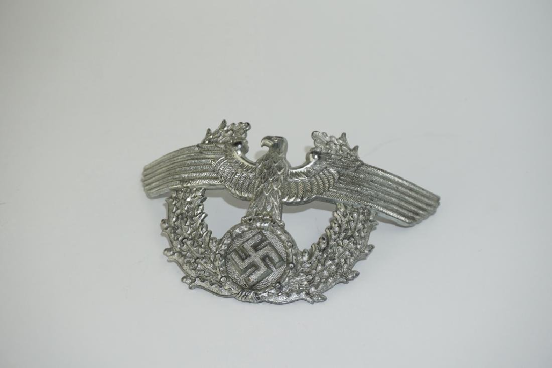 WWII GERMAN POLICE SHAKO CAP EAGLE - 5