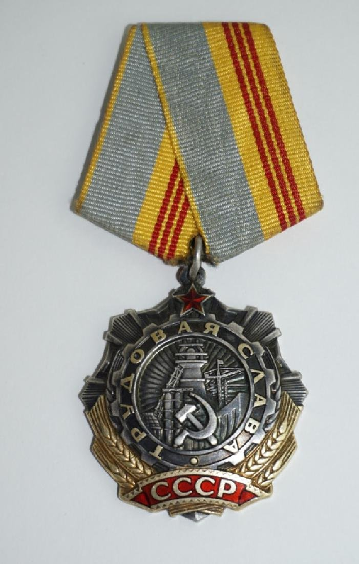 SOVIET MEDAL WITH RIBBON