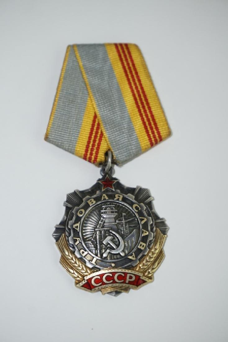 SOVIET MEDAL WITH RIBBON - 2