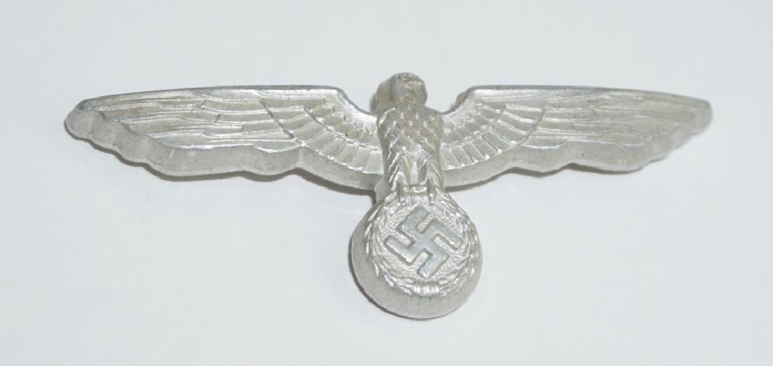 WWII GERMAN ALUMINUM EAGLE HAT PIN