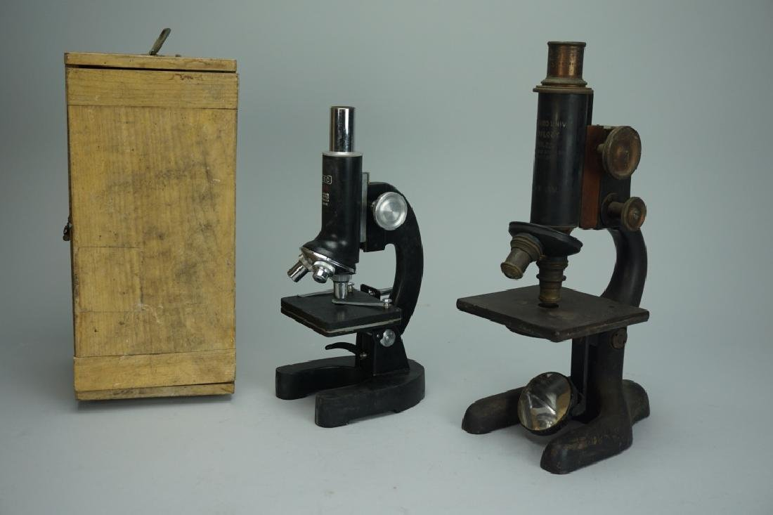 (2) VINTAGE MICROSCOPES