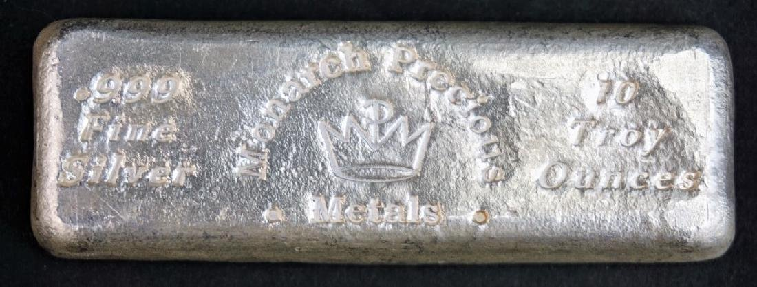 MONARCH PRECIOUS METALS 99.9 PURE SILVER BAR