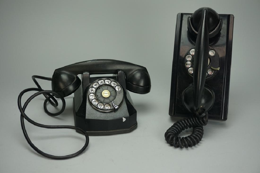 PAIR VINTAGE ROTARY TELEPHONES