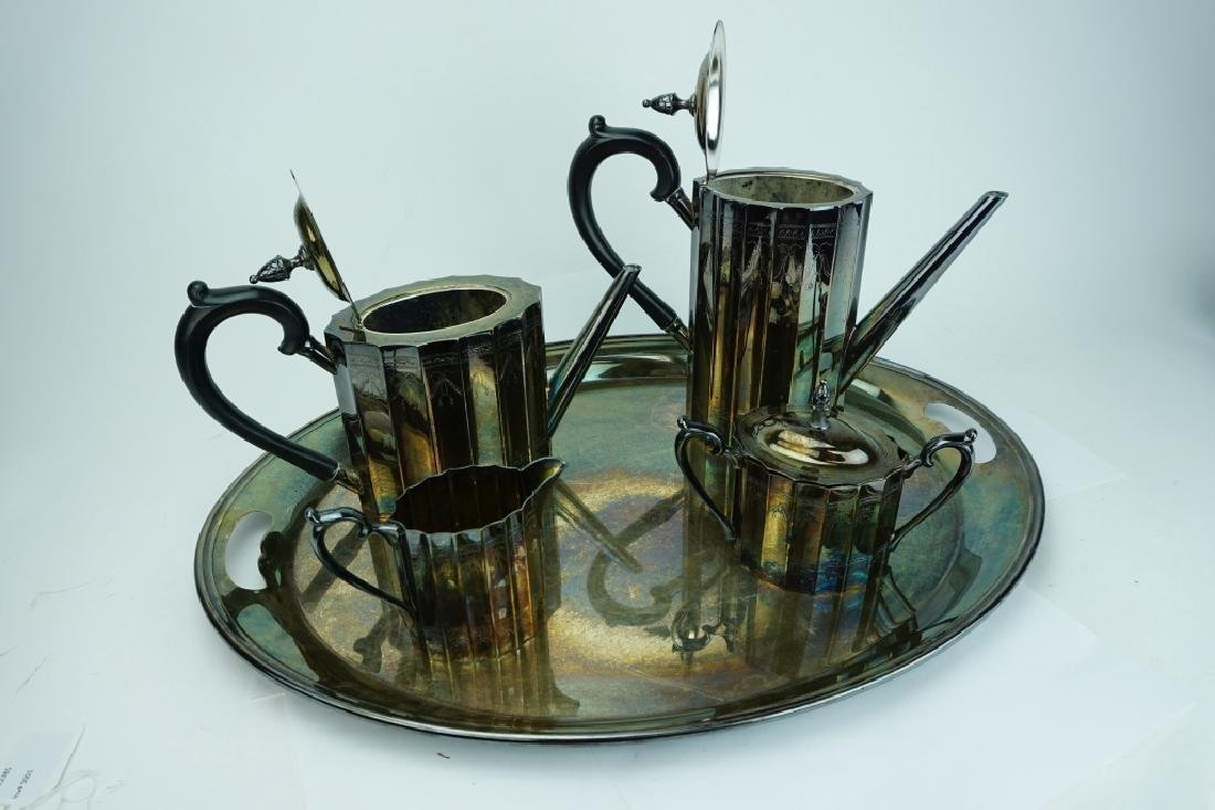5pc LUNT SILVER PLATE DRINK SERVICE