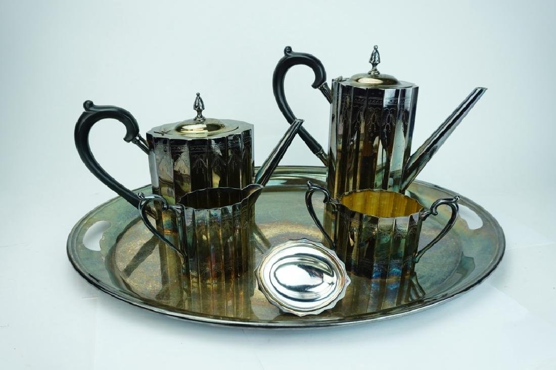 5pc LUNT SILVER PLATE DRINK SERVICE - 2