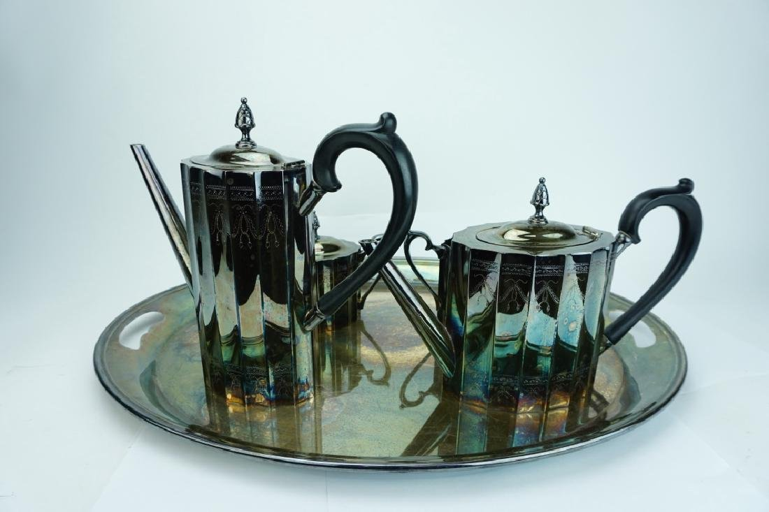 5pc LUNT SILVER PLATE DRINK SERVICE - 3